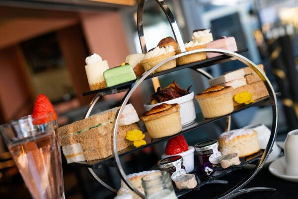 A selection of cakes and sandwiches on our ultimate afternoon tea.