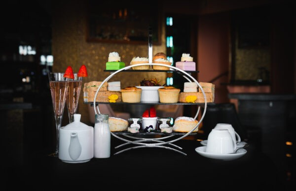 Ultimate Afternoon Tea served with prosecco, cakes and savouries.