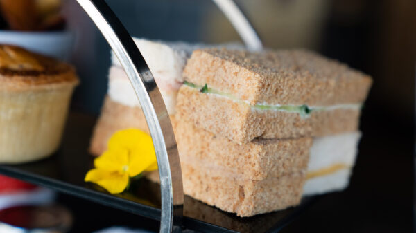 A range of sandwiches is served with our ultimate afternoon tea.
