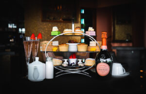 Laurent-Perrier Afternoon Tea served in our windermere cafe