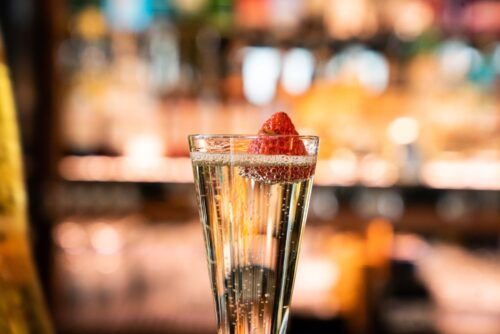 Prosecco served in our cocktail bar